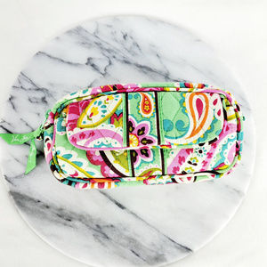 Vera Bradley Floral Mint Cosmetic Case with Mirror